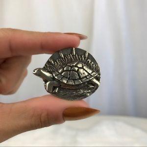 Turtle Spirit Animal Totem Metal Pocket Luck Charm